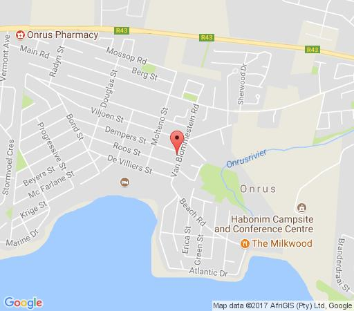 Map M Hotel Onrus in Hermanus  Overberg  Western Cape  South Africa