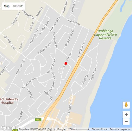 Map Old n New Bed and Breakfast in Umhlanga Ridge  Umhlanga  Northern Suburbs (DBN)  Durban and Surrounds  KwaZulu Natal  South Africa