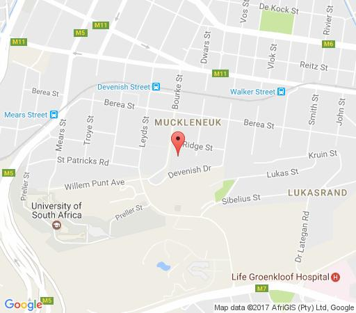 Map House Sandrock Muckleneuk in Muckleneuk Ridge  Pretoria Central  Pretoria / Tshwane  Gauteng  South Africa