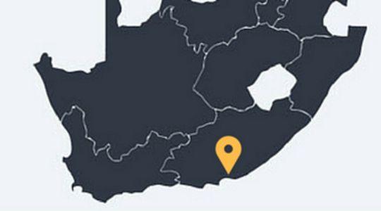 Map Leeuwenbosch Shearers Lodge in Addo  Cacadu (Sarah Baartman)  Eastern Cape  South Africa