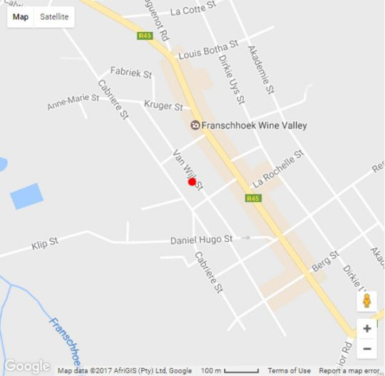 Map Mont d Or Franschhoek in Franschhoek  Cape Winelands  Western Cape  South Africa