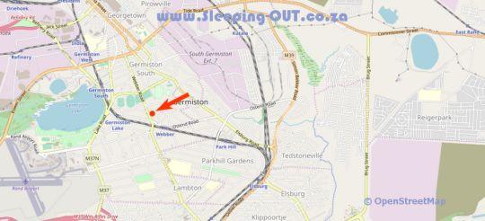 Map 53 on Webber  Guest House in Germiston  Ekurhuleni (East Rand)  Gauteng  South Africa