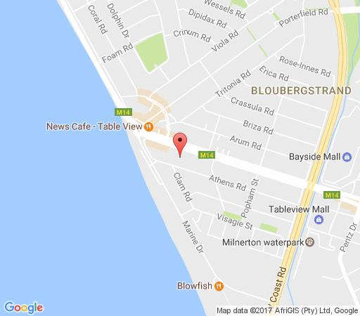Map Witsand holiday apartment in Bloubergstrand  Blaauwberg  Cape Town  Western Cape  South Africa