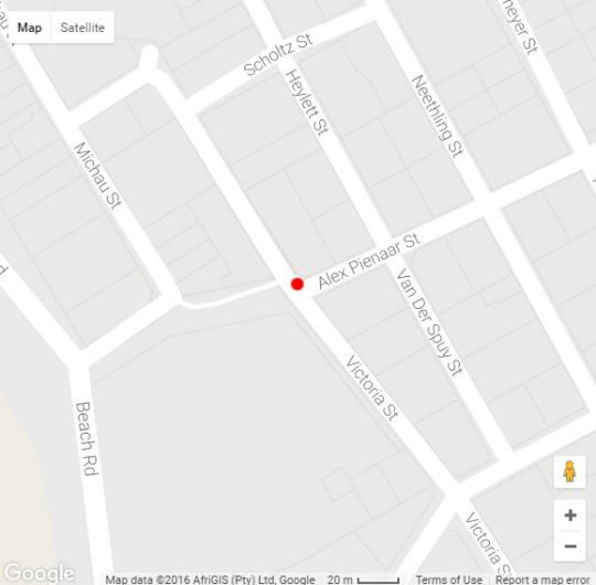 Map 17 Avenue Mansions in Strand  Helderberg  Western Cape  South Africa