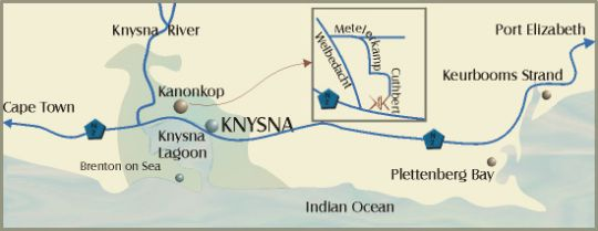 Map Kanonkop House in Knysna  Garden Route  Western Cape  South Africa