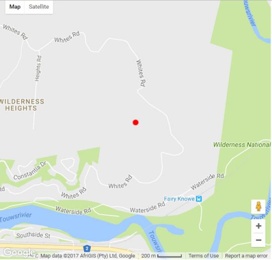 Map The Wild Farm in Wilderness  Garden Route  Western Cape  South Africa