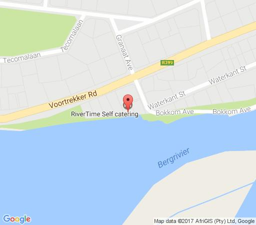 Map Rivertime in Velddrif  West Coast (WC)  Western Cape  South Africa