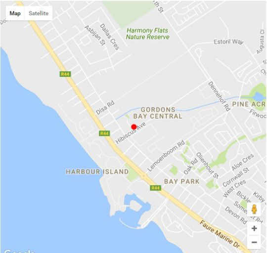 Map Mont Blanc Apartment in Gordon's Bay  Helderberg  Western Cape  South Africa
