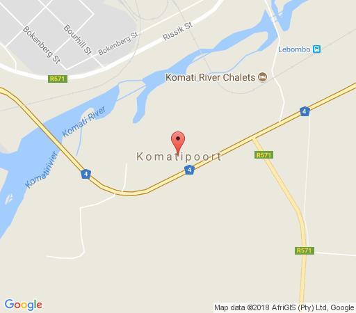 Map Komati Friends in Komatipoort  Lowveld  Mpumalanga  South Africa