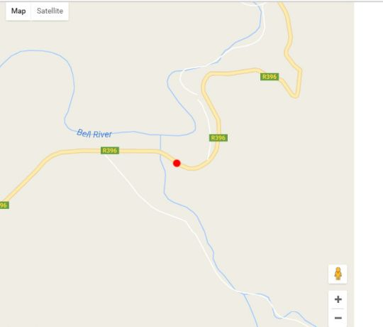 Map Alpine Swift Trails High Altitude Training Facilit in Rhodes  Drakensberg (EC)  Eastern Cape  South Africa