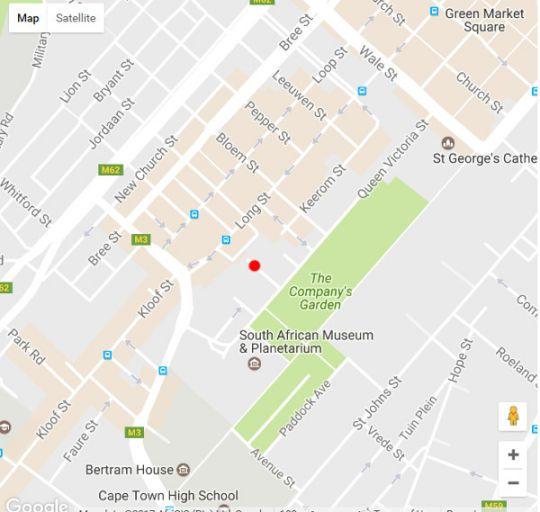 Map Manhattan Style Studio in Cape Town CBD in Cape Town CBD  City Bowl  Cape Town  Western Cape  South Africa