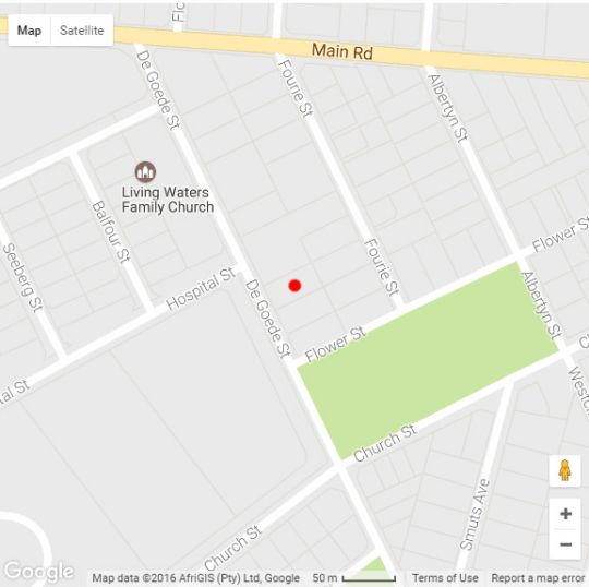 Map The Gables Guest House in Hermanus  Overberg  Western Cape  South Africa