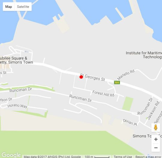 Map Edwardian Town House in Simon's Town  False Bay  Cape Town  Western Cape  South Africa