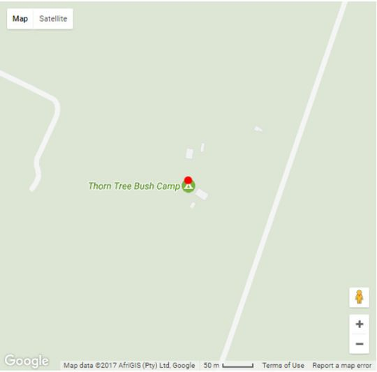 Map Thorn Tree Bush Camp in Hammanskraal  Metsweding District  Gauteng  South Africa