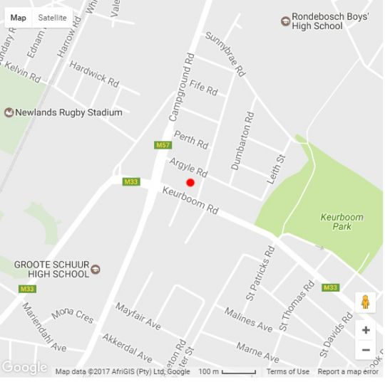 Map No. 9 Keurboom in Newlands (CPT)  Southern Suburbs (CPT)  Cape Town  Western Cape  South Africa