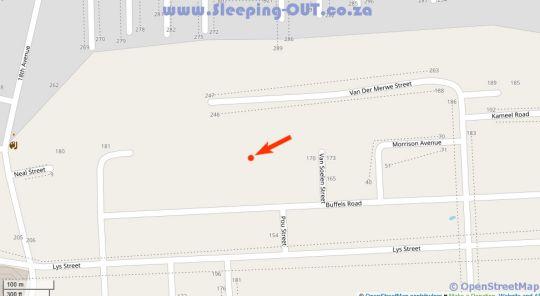 Map Tevrede Guesthouse in Rietondale  Moot  Pretoria / Tshwane  Gauteng  South Africa