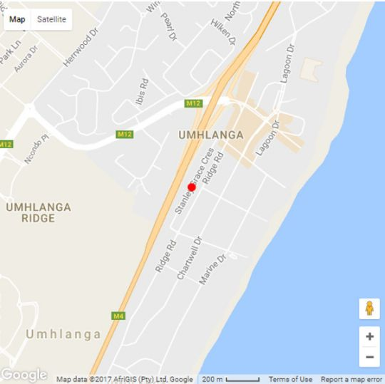 Map The Villa Umhlanga in Umhlanga Rocks  Umhlanga  Northern Suburbs (DBN)  Durban and Surrounds  KwaZulu Natal  South Africa