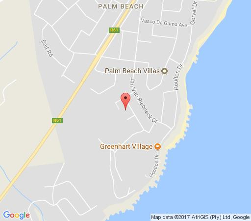 Map Broncur Beach House in Palm Beach  South Coast (KZN)  KwaZulu Natal  South Africa