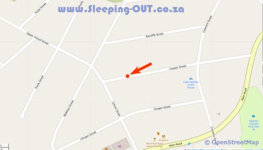 Map Cape Agulhas Guest House in Agulhas  Overberg  Western Cape  South Africa