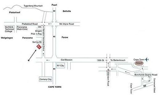 Map Ramasibi Guest Services in Parow  Northern Suburbs (CPT)  Cape Town  Western Cape  South Africa