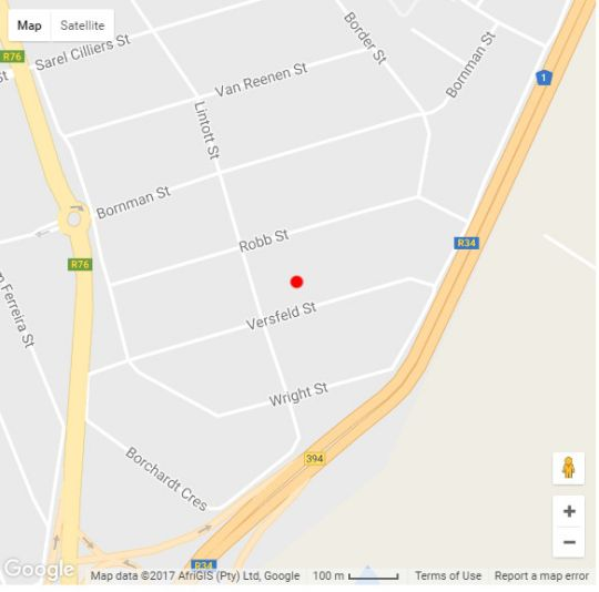 Map Sewende Hemel in Kroonstad  Fezile Dabi (Northern Free State)  Free State  South Africa