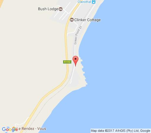 Map Aliwal Shoal Lodge in Scottburgh  South Coast (KZN)  KwaZulu Natal  South Africa