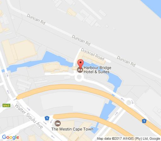 Map Harbour Bridge Suites 001 in Waterfront  City Bowl  Cape Town  Western Cape  South Africa