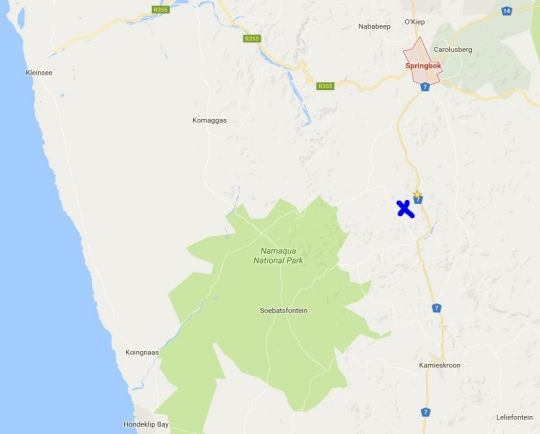 Map Brandrivier Accommodation in Springbok  Namakwaland  Northern Cape  South Africa