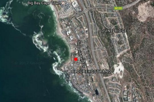 Map Blaauwberg House in Bloubergstrand  Blaauwberg  Cape Town  Western Cape  South Africa