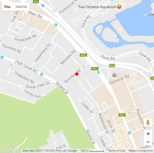 Map 38 High Strand in De Waterkant  Atlantic Seaboard  Cape Town  Western Cape  South Africa