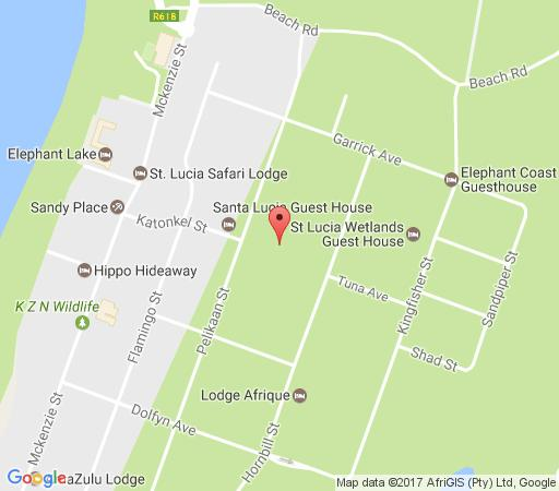 Map Pelican\'s Nest Holiday Home St Lucia in St Lucia  Zululand  KwaZulu Natal  South Africa