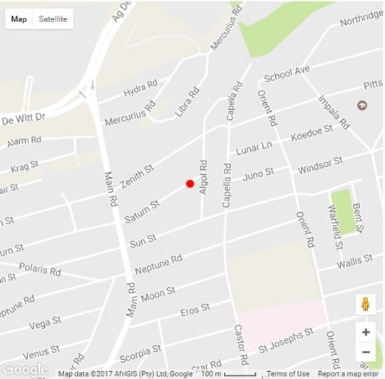 Map Thyme Square in Germiston  Ekurhuleni (East Rand)  Gauteng  South Africa