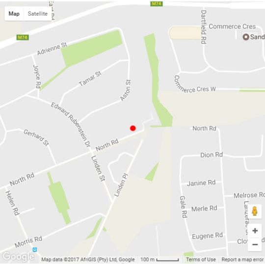 Map Sandown Guesthouse in Sandown  Sandton  Johannesburg  Gauteng  South Africa