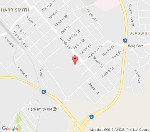 Map Rheola\'s Guest Cottage - Self-Catering Harrismith in Harrismith  Thabo Mofutsanyana  Free State  South Africa