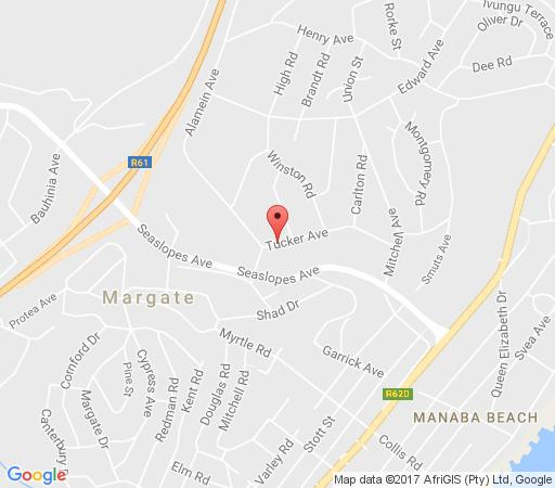 Map Angels&Sea in Uvongo  South Coast (KZN)  KwaZulu Natal  South Africa