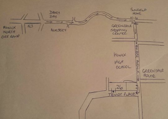Map Teviot Place in Howick  Midlands  KwaZulu Natal  South Africa