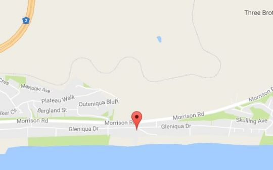 Map Seaside Bliss Guesthouse in Glentana  Garden Route  Western Cape  South Africa