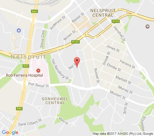 Map HPTwelve Accommodation in Nelspruit  Lowveld  Mpumalanga  South Africa