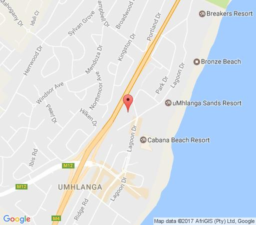 Map Shades 61 in Umhlanga Rocks  Umhlanga  Northern Suburbs (DBN)  Durban and Surrounds  KwaZulu Natal  South Africa