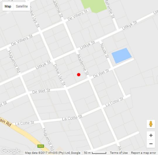 Map Holly Tree Franschhoek Accommodation in Franschhoek  Cape Winelands  Western Cape  South Africa