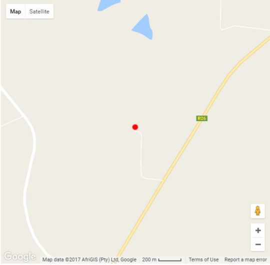 Map Caritas Werfbederf in Ladybrand  Thabo Mofutsanyana  Free State  South Africa