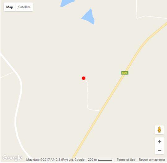 Map Caritas Werfbederf in Ladybrand  Thabo Mofutsanyana  Free State  South Africa
