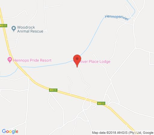 Map River Place Lodge in Hennops River  Centurion  Pretoria / Tshwane  Gauteng  South Africa