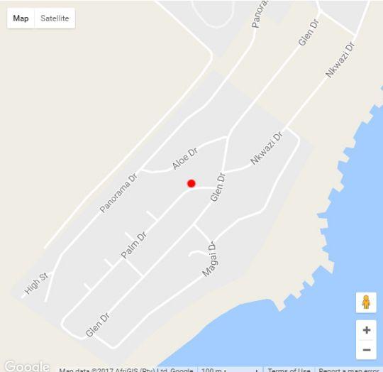 Map Zinki Beach House in Zinkwazi Beach  North Coast (KZN)  KwaZulu Natal  South Africa