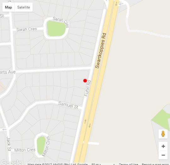 Map Fuhri Road in Randhart  Alberton  Ekurhuleni (East Rand)  Gauteng  South Africa