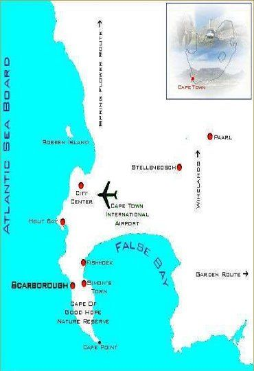 Map Atlantic Dream Beachfront Villa in Scarborough  False Bay  Cape Town  Western Cape  South Africa