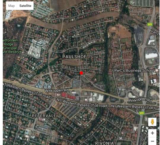 Map Ruby Homes Paulshof ,Sandton in Paulshof  Sandton  Johannesburg  Gauteng  South Africa