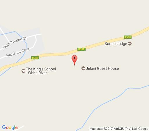 Map Jelani Guest House in White River  The Panorama  Mpumalanga  South Africa