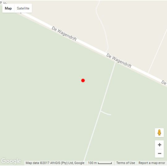 Map Thekwane lodge in Dinokeng North  Metsweding District  Gauteng  South Africa