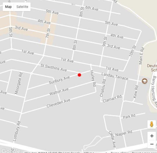 Map Sunbury Place in Melville (JHB)  Northcliff/Rosebank  Johannesburg  Gauteng  South Africa
